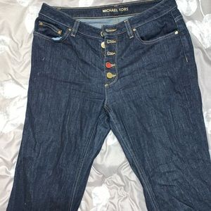Michael Korda Size 8 Jeans. Wide leg/bell bottom